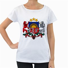 Coat Of Arms Of Latvia Women s Loose Fit T Shirt (white)