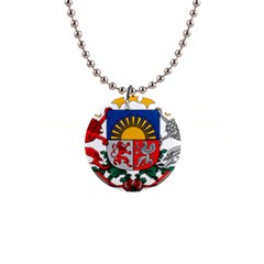 Coat Of Arms Of Latvia Button Necklaces