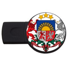 Coat Of Arms Of Latvia Usb Flash Drive Round (4 Gb)