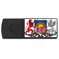Coat Of Arms Of Latvia Usb Flash Drive Rectangular (4 Gb)