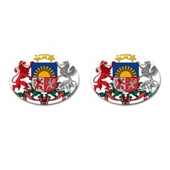 Coat Of Arms Of Latvia Cufflinks (oval)