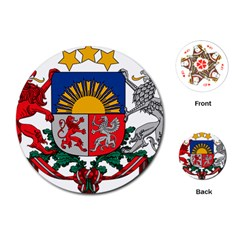 Coat Of Arms Of Latvia Playing Cards (round)
