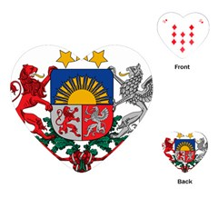 Coat Of Arms Of Latvia Playing Cards (heart)