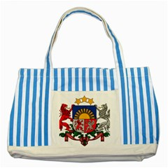 Coat Of Arms Of Latvia Striped Blue Tote Bag