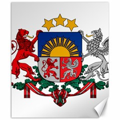 Coat Of Arms Of Latvia Canvas 8  X 10