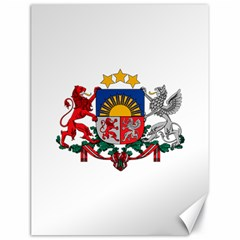 Coat Of Arms Of Latvia Canvas 18  X 24