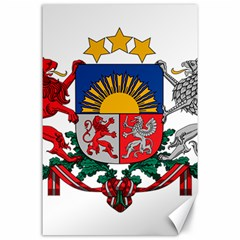 Coat Of Arms Of Latvia Canvas 24  X 36
