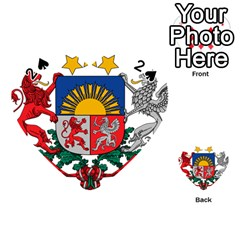 Coat Of Arms Of Latvia Playing Cards 54 (heart)