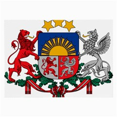 Coat Of Arms Of Latvia Large Glasses Cloth (2 Side)