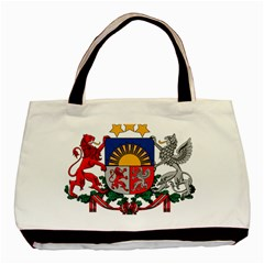 Coat Of Arms Of Latvia Basic Tote Bag (two Sides)