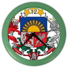 Coat Of Arms Of Latvia Color Wall Clocks