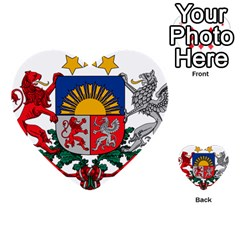 Coat Of Arms Of Latvia Multi Purpose Cards (heart)
