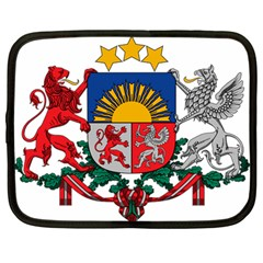 Coat Of Arms Of Latvia Netbook Case (large)