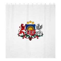 Coat Of Arms Of Latvia Shower Curtain 66  X 72  (large)