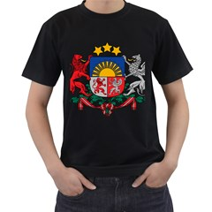 Coat Of Arms Of Latvia Men s T Shirt (black)