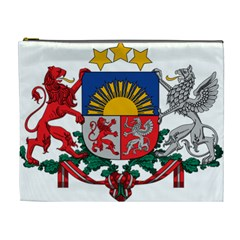 Coat Of Arms Of Latvia Cosmetic Bag (xl)