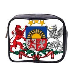 Coat Of Arms Of Latvia Mini Toiletries Bag 2 Side