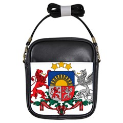Coat Of Arms Of Latvia Girls Sling Bags