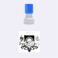Coat Of Arms Of Latvia Rubber Round Stamps (small)
