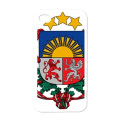 Coat Of Arms Of Latvia Apple Iphone 4 Case (white)