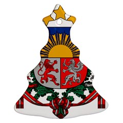 Coat Of Arms Of Latvia Ornament (christmas Tree)