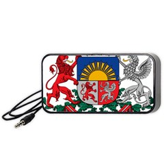 Coat Of Arms Of Latvia Portable Speaker (black)