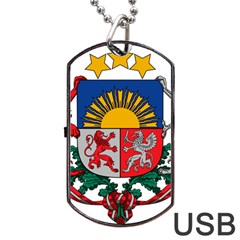 Coat Of Arms Of Latvia Dog Tag Usb Flash (one Side)