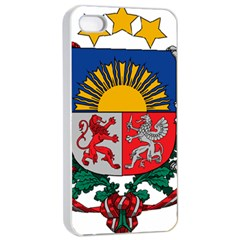 Coat Of Arms Of Latvia Apple Iphone 4/4s Seamless Case (white)