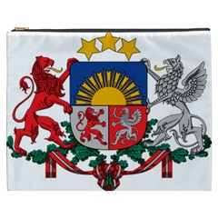 Coat Of Arms Of Latvia Cosmetic Bag (xxxl)