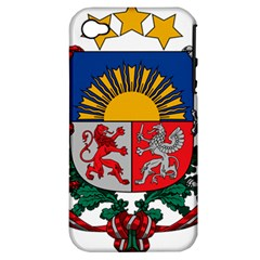 Coat Of Arms Of Latvia Apple Iphone 4/4s Hardshell Case (pc+silicone)