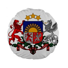 Coat Of Arms Of Latvia Standard 15  Premium Round Cushions