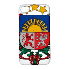 Coat Of Arms Of Latvia Apple Iphone 4/4s Hardshell Case With Stand