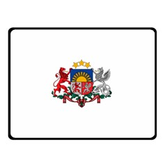 Coat Of Arms Of Latvia Double Sided Fleece Blanket (small)