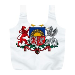 Coat Of Arms Of Latvia Full Print Recycle Bags (l)