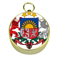 Coat Of Arms Of Latvia Gold Compasses