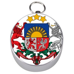 Coat Of Arms Of Latvia Silver Compasses