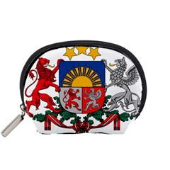 Coat Of Arms Of Latvia Accessory Pouches (small)