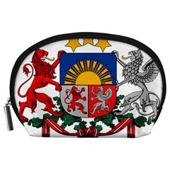 Coat Of Arms Of Latvia Accessory Pouches (large)