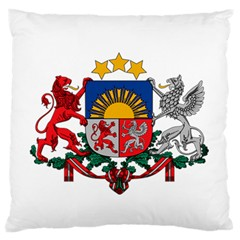 Coat Of Arms Of Latvia Large Flano Cushion Case (one Side)