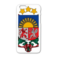 Coat Of Arms Of Latvia Apple Iphone 6/6s White Enamel Case