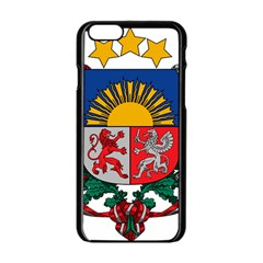 Coat Of Arms Of Latvia Apple Iphone 6/6s Black Enamel Case