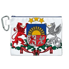 Coat Of Arms Of Latvia Canvas Cosmetic Bag (XL)