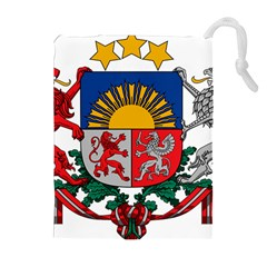 Coat Of Arms Of Latvia Drawstring Pouches (extra Large)