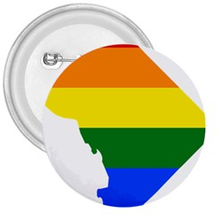 Lgbt Flag Map Of Washington, D C 3  Buttons