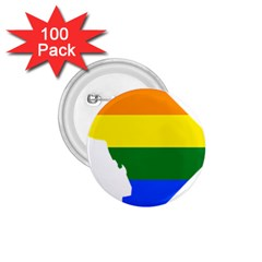 Lgbt Flag Map Of Washington, D C 1 75  Buttons (100 Pack)