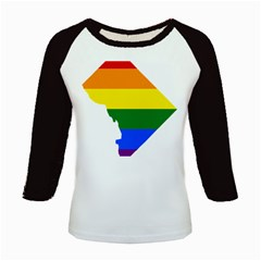 Lgbt Flag Map Of Washington, D C Kids Baseball Jerseys