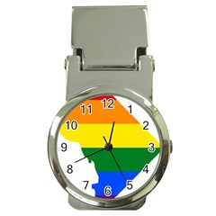 Lgbt Flag Map Of Washington, D C Money Clip Watches