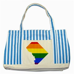 Lgbt Flag Map Of Washington, D C Striped Blue Tote Bag