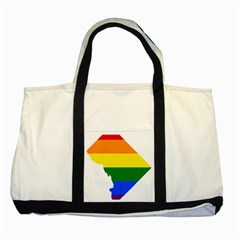 Lgbt Flag Map Of Washington, D C Two Tone Tote Bag