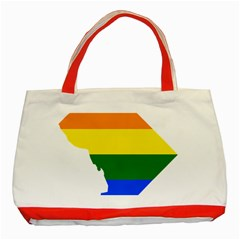 Lgbt Flag Map Of Washington, D C Classic Tote Bag (red)